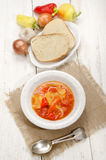 Hungarian letscho with sweet peppers Stock Images