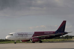 Hungarian low cost airline Wizzair Royalty Free Stock Photo