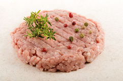 Hungarian mangalica burger with red, green and white peppercorn Stock Images