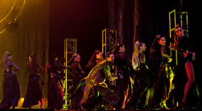 Hungarian Modern dance drama : Evening Banquet Royalty Free Stock Photo