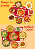 Hungarian and moldavian cuisine dishes icon Royalty Free Stock Photo