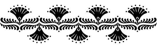 Hungarian motifs patterns. Endless beautiful Stock Image