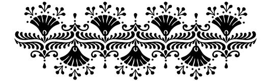 Hungarian motifs patterns. Endless beautiful Royalty Free Stock Image