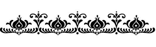 Hungarian motifs patterns. Endless beautiful Royalty Free Stock Images