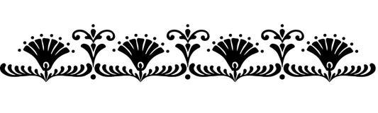Hungarian motifs patterns. Endless beautiful Stock Photo