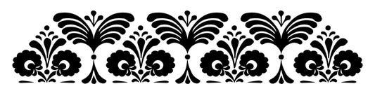Hungarian motifs patterns. Endless beautiful Stock Photography