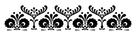Hungarian motifs patterns. Endless beautiful Royalty Free Stock Photo