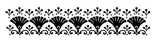 Hungarian motifs patterns. Endless beautiful Stock Images