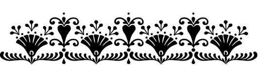 Hungarian motifs patterns. Endless beautiful Royalty Free Stock Photography