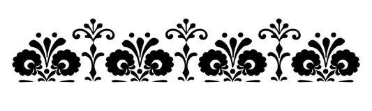 Hungarian motifs patterns. Endless beautiful Stock Photos