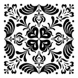 Hungarian motifs are square-shaped. Monochrome Royalty Free Stock Photo
