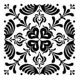 Hungarian motifs are square-shaped. Monochrome Royalty Free Stock Photos