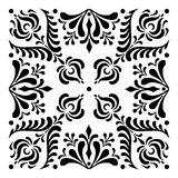 Hungarian motifs are square-shaped. Monochrome Royalty Free Stock Image