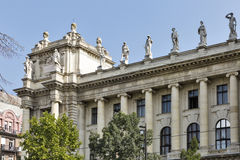 Hungarian Museum of Ethnography in Budapest. Hungarian Museum of Ethnography at Kossuth square in Budapest. National landmark Royalty Free Stock Image