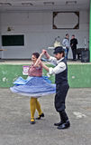 Hungarian national dance. Muzlja - Zrenjanin, Serbia, April 22, 2017. Hungarian dance as a prelude to the event `Hungary traditional marriage Stock Images
