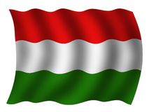 Hungarian national flag Stock Photography