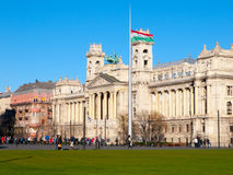 Hungarian National Museum of Ethnography at Kossuth Lajos Square in Budapest, Hungary Stock Image