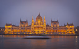 Hungarian National Parliament Building in Budapest Royalty Free Stock Photo