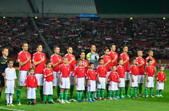 The Hungarian National Team Stock Image