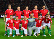 The Hungarian National Team Royalty Free Stock Photos