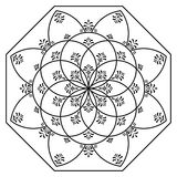 Hungarian octagon elements. Black and white Royalty Free Stock Photography