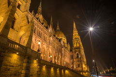 Hungarian Parlament Building at night Stock Photo