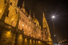 Hungarian Parlament Building at night Stock Photo
