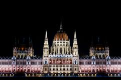 Hungarian parlament at night Stock Photos