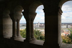 Hungarian Parliament. View from the Fishers Bastion Royalty Free Stock Photos