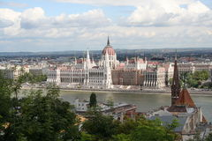 Hungarian Parliament. Parliament over the river, Hungary, Budapest Royalty Free Stock Image