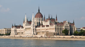 Hungarian parliament. On the river danube Stock Photography