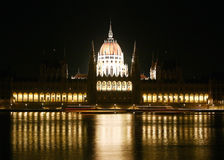 Hungarian Parliament. An imposing building in Budapest, Hungary on the banks of the river Danube Stock Photos