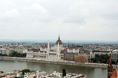 Hungarian Parliament. View of Hungarian Parliament in Budapest royalty free stock images
