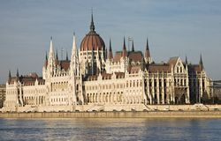 The Hungarian Parliament Royalty Free Stock Photos