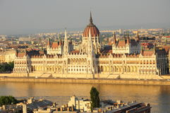 The Hungarian parliament. In Budapest, Hungary Royalty Free Stock Image