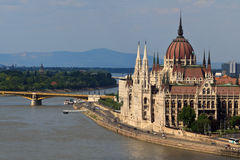 Hungarian parliament Royalty Free Stock Images