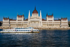 Hungarian Parliament. The Hungarian Parliament in Budapest stock photo