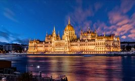 Hungarian Parliament - Breathtaking landscape stock photography