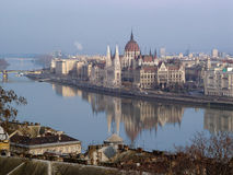 Hungarian parliament in Budapest Stock Photos