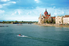 The Hungarian parliament in Budapest Stock Images