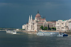 The hungarian Parliament in Budapest Royalty Free Stock Photography