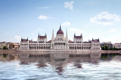 Hungarian parliament in Budapest Stock Photography