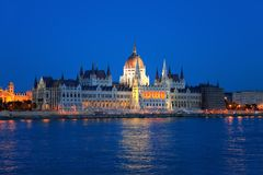Hungarian Parliament in Budapest. One of the famous gothic buildings of Europe royalty free stock image