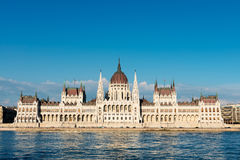 Hungarian Parliament in Budapest across the Danube Stock Image