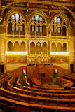 Hungarian Parliament Budapest assembly room royalty free stock photo