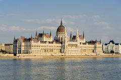 Hungarian Parliament, Budapest. Hungarian Parliament building along the Danube river in Budapest, Hungary Royalty Free Stock Photography