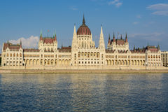 Hungarian Parliament, Budapest. Hungarian Parliament building along the Danube river in Budapest, Hungary royalty free stock image