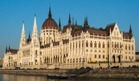Hungarian Parliament, Budapest. Hungarian Parliament on the Danube Stock Images