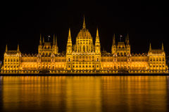 The Hungarian Parliament. The Parliament in Budapest, Hungary Stock Image