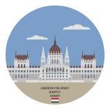 Hungarian Parliament. Budapest, Hungary Royalty Free Stock Image